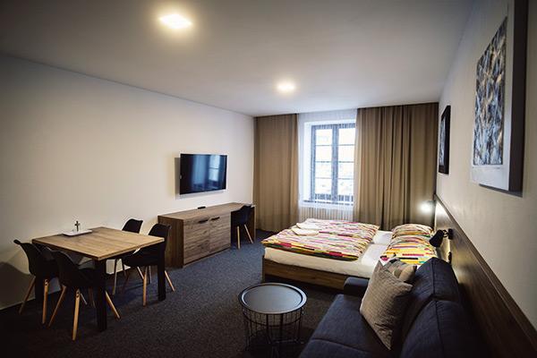 ubytování v nových pokojích